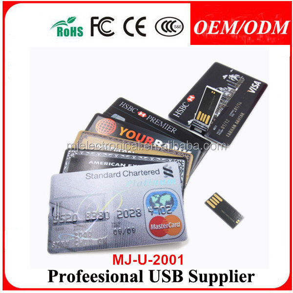 Full Capacity 50pcs/lot , Wholesale Waterproof Blank Credit Card <strong>USB</strong> ,FREE LOGO