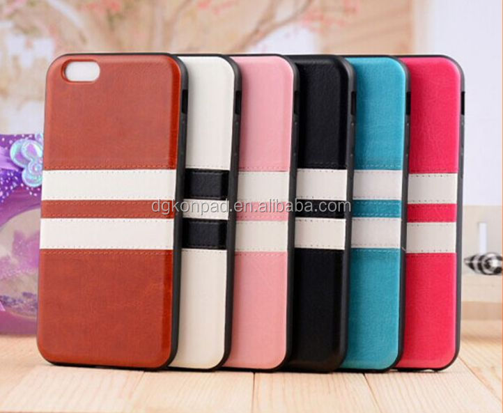 New Arrival Double Color Cross Stripe Design Slim Soft Case For IPhone 6 4.7''
