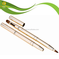 Double-Sided Retractable Lip Brush with Eyeshadow Brush