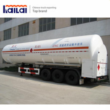 Factory Direct Sale Tanker Semi Trailer 2-4 Axles LNG Tank Truck With Volume Optional