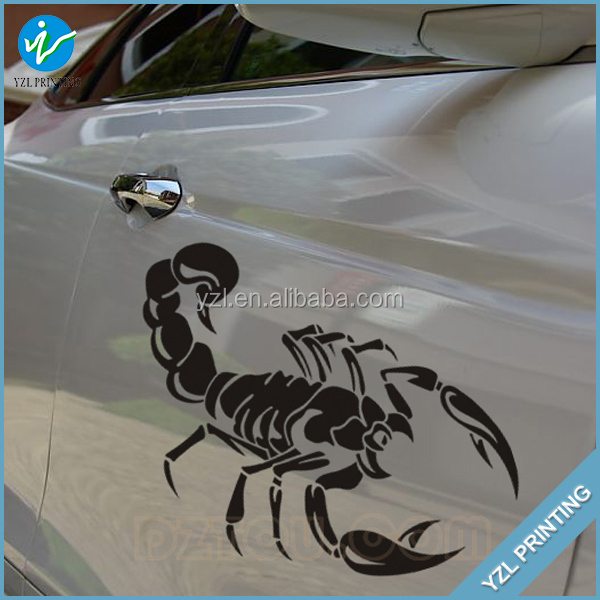 Factory Custom durable PVC stickers motorcycle car decals stickes