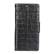 For Huawei Honor 9 Crocodile Texture Genuine Leather Stand Wallet Mobile Phone Cover