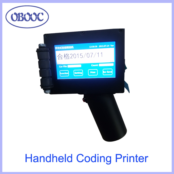 Portable Handheld Code QR Printer for Code Marking on Wood, Metal, Plastic