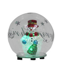Wholesale led glass ball with snowman inside
