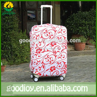 Fashion style high elasticity stripe designed luggage cover and wholesales spandex luggage cover