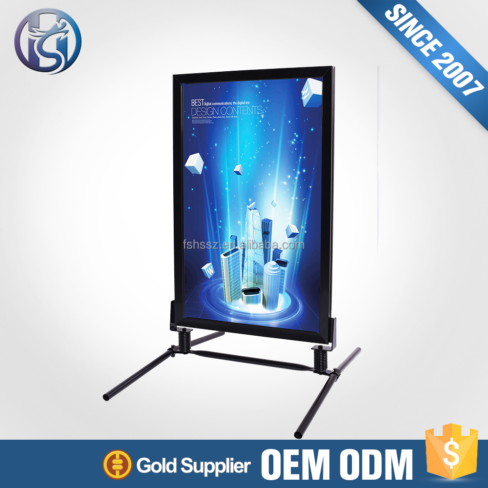 Customizable Display Aluminum Frame Double Sides Poster Stand