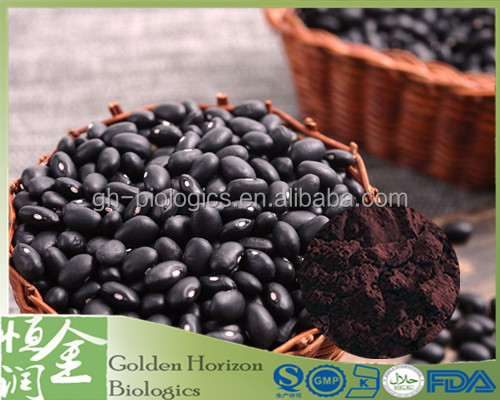 High Quality Cosmetic grade Black Bean Peel Extract Black Soybean Hull P.E.