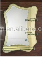 4mm bathroom mirror glass with shelf bathroom mirror factory directly sale decorative mirror made in china