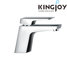 contemporary brass single handle chrome plating basin faucet