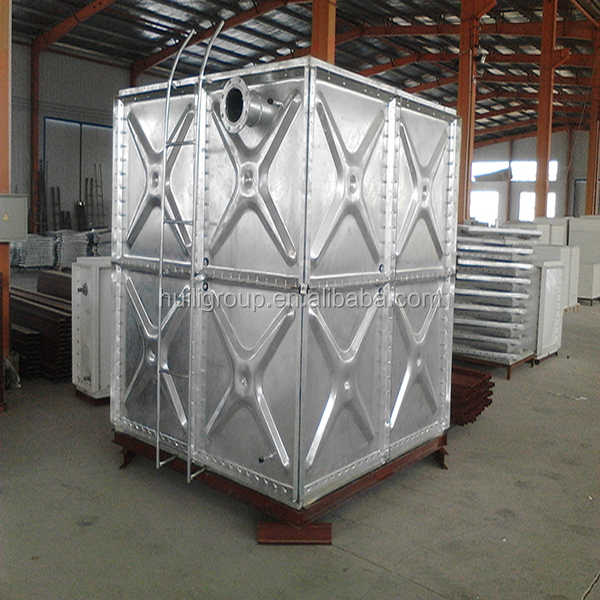 2016 overhead and elevated Corrugated Galvanized Steel water pressure tank