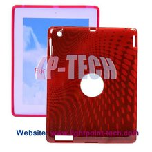 2012 New Dots Design TPU Back Case Cover for iPad 3
