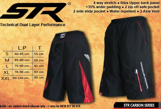 MTB Shorts pants cycling STR branded for mtb, downhill, allmountain and Onroad bicycle (with wide padding)