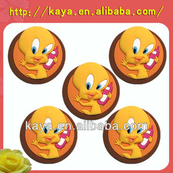 China factory customized soft pvc 3d fridge magnet