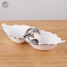 White and silver housewear & furnishings antique plates ceramic fruit dish cheap porcelain plate