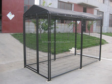 5'*10'*6' clamp connected roof covered dog run large dog kennel