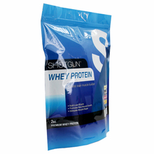 Stand up resealable aluminum foil whey protein packaging bags