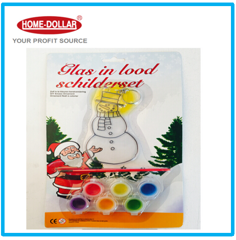Suit children paint brush painting with model