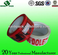red&white color printed bopp packing tape