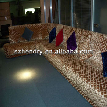 New design modern L shape leather wooden corner sofa