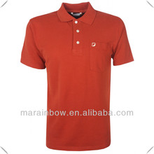 High quality end Custom flat knit ribbed collar 100% Cotton pique Polo Shirt