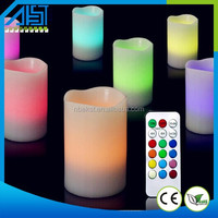 paraffin wax decoration,moving flame wick candle led light