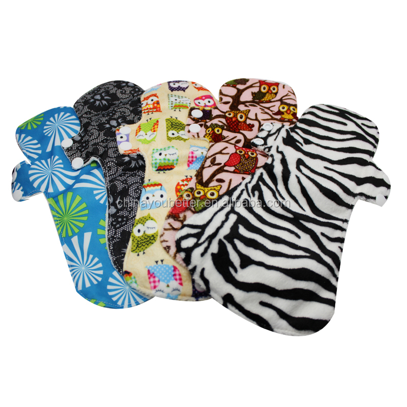 New Arrival PUL Cloth Pads Charcoal Bamboo Reusable Mama Sanitary Menstrual Pads