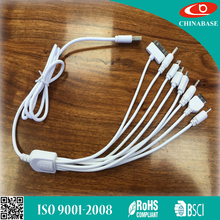 Universal 10 in 1 Multifunction Charger USB Cable For Multiple Cell Phones 5 in 1 USB cable
