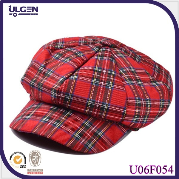 Wholesale Cotton Newsboy Hat For Women Plaids Hat