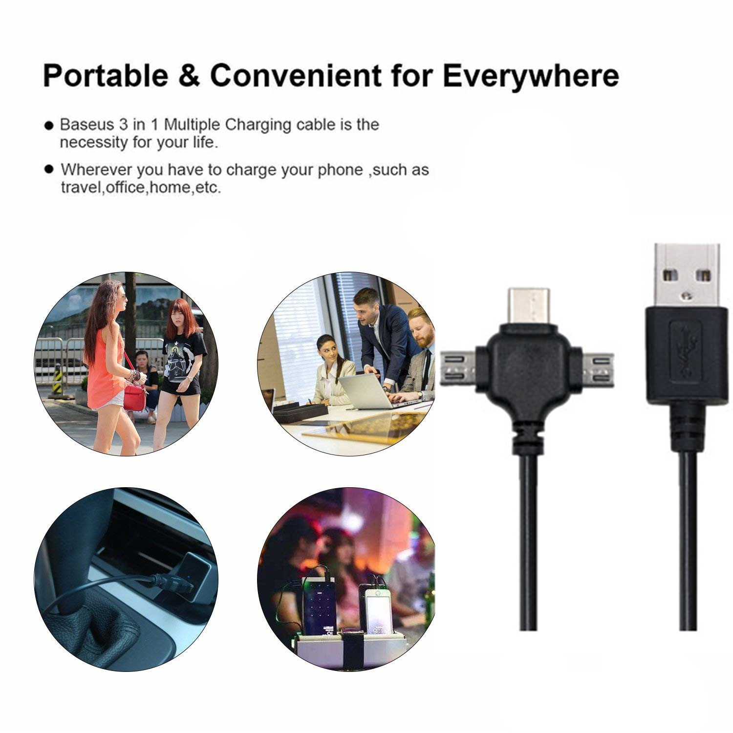 Micro Data Phone 3.0 Charging Type C A Cord Multifunction Otg Multiple Charger Retractable 31 Fast Charge 3 In 1 Usb Cable