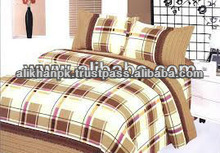 Check Design Bed Sheet