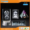 Wholesale Paris/Roma/New York Holiday Ornaments 3D Crystal Laser Engraving Gifts Glass Building Model Crystal Paperweight