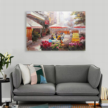 Handmade abstract islamic rural village street scenery wall oil painting pictures