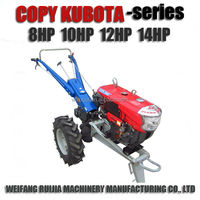 Hot sale diesel engine 8-14HP kubota tractor prices of sale ! Copy kubota walking tractors with implements for sale !