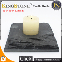 black slate candle holder tea light holder
