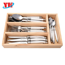 Laguiole 24pcs Flatware Set with Straight Handle
