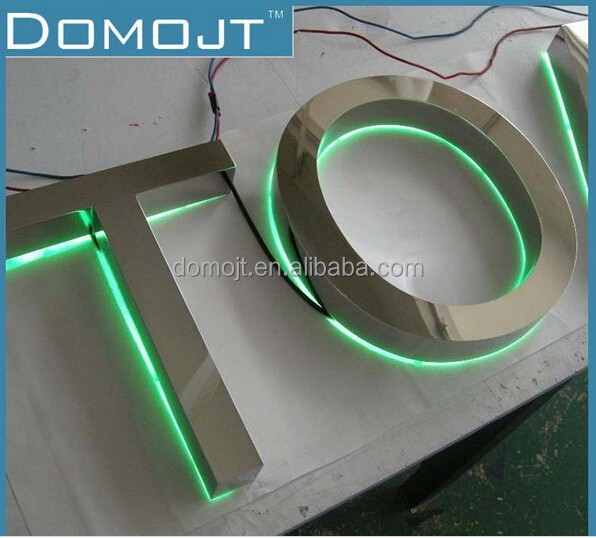 3D backlit company Led Letter <strong>Signs</strong> mental customized Shape led backlit letter sign box