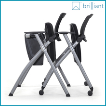 878C 2016 Luxury Office Chairs/Meeting Room Chairs With Writing Tablet /Fashionable Folding Training Chairs with wheels