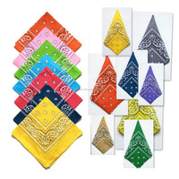 Wholesa Cheap Double Sided Paisley Print 22*22 Inch 100% Cotton Novelty n High Quality Bandana
