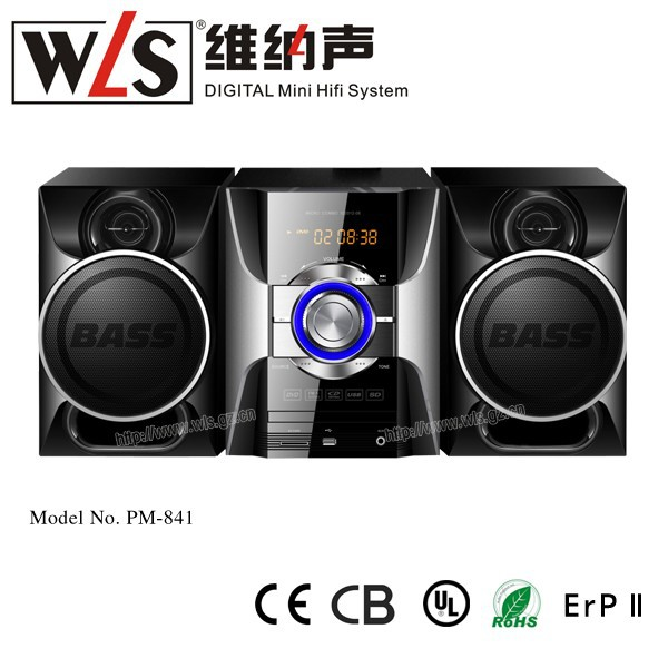 WLS New Arrival Products PM-841 Micro Hifi System with USB Aux to Phone use