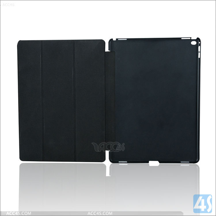 3-fold litchi texture smart leather cover for ipad pro 12.9