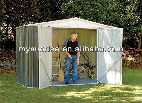 Low cost steel frame a-frame house kit