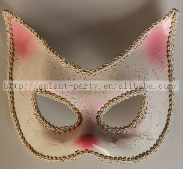 Factory Wholesale Fashion Silver Woman Sexy Animal Full Face Dance Masquerade Cat Face Mask Vintage Cat Party Mask
