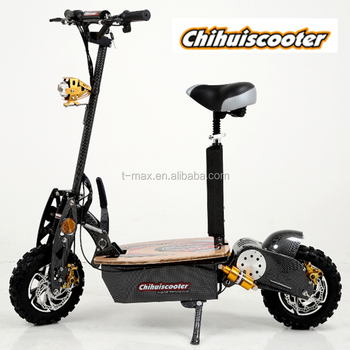 Top quality foldable 2000W electric scooter with seat electric bike