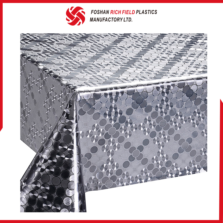 Personalized Custom Cheap Non-Woven PVC Table Cover Vinyl