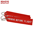 embroidered keychain/key tag/keyring alpha jet/remove before flight