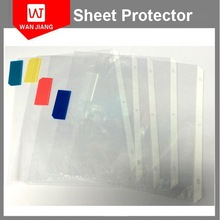 Alibaba golden suppliers a4 11 holes clear plastic pvc sheet protectors with special cover for Ring Binder