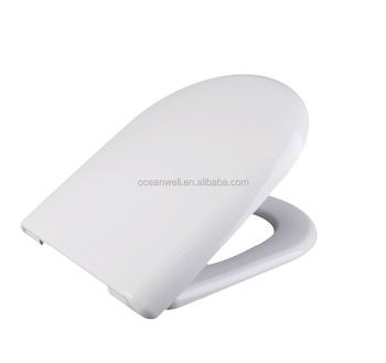 Square WC Toilet Seat with Soft Close and Quick Release made in China for bathroom