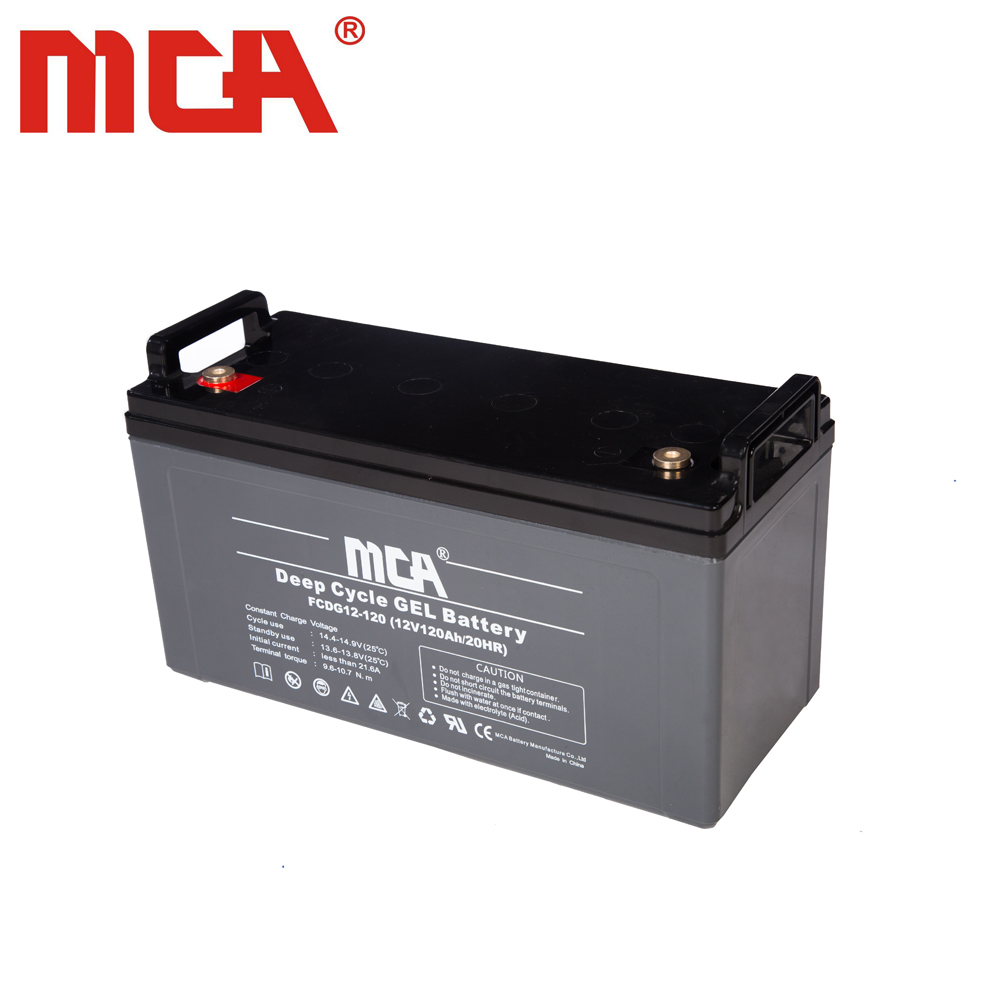 good quality Gel 12V 120Ah deep cycle battery/storage/VRLA