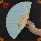 Welcome custom ice cream color personalized paper hand fans GYS914-3