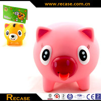 Advertising Tongue Movable Soft Animal Toys Pig Design Ruber Toys Promotion Vinyl Toys